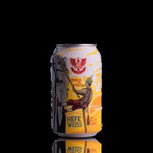 Cerveja de Trigo Hefe Weiss LindenBier lata 350ml
