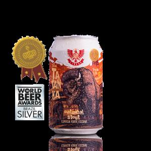 Cerveja Forte Escura Tatanka Outmeat Stout LindenBier lata 350ml