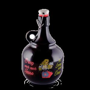 Growler de Vidro LindenBier para Cerveja Artesanal com Capacidade para 2 litros