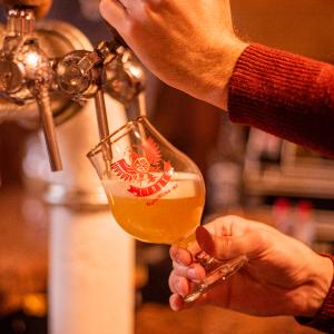 Taça Dublin para Cerveja Artesanal Personalizada com Borda de Ouro 300ml