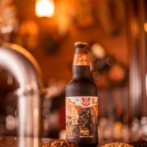 Cerveja Forte Escura Tatanka Outmeat Stout LindenBier garrafa 500ml